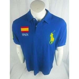 Ralph Lauren Polo Mens XXL Spain Big Pony Blue